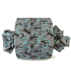 Medium Stretch fabric wrap in Ocean Blue.  Used here to wrap a lampshade.