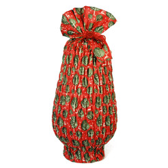 Large Stretch fabric wrap in Red Berry.  Used here to wrap a large vase (46cm high).
