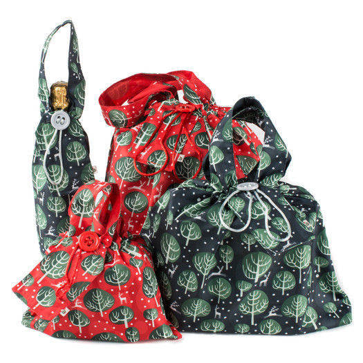 Our fabric gift bags are so easy to use this Christmas. A size that will fit most of your Christmas gifts, just pop into the Gift Bag and pull the drawstring tight to beautifully conceal your gift.
