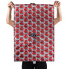 Full size of wrap, Red Poinsettia side