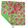 Small Crackle fabric wrap in Neon Pink.  Shown flat.