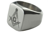 Cheap Freemason Rings / Masonic Rings for sale - 316L Stainless Steel Band Masonic Jewelry for Masons. Masonic Rings for Sale.