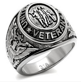 U.S. Veteran Ring  - Military Rings (Silver Color) - USA War Vet.