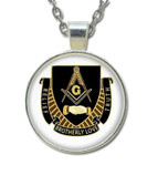 Masonic Glass Necklace Pendant Brotherly Love Message Symbol for Freemasons