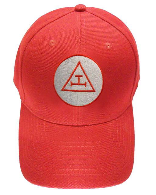 Royal Arch Masonic Baseball Cap - Red Hat w  Royal Arch Triple Tau ... 8e9f3394815c