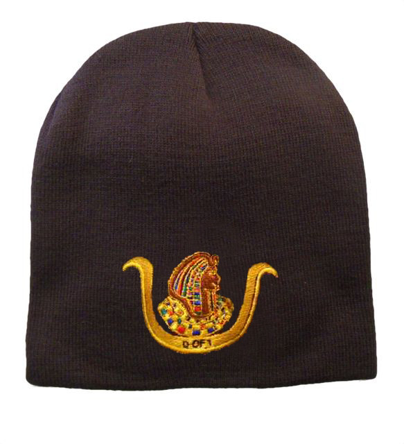 98ae52ad1 Ancient Egyptian D.O.I. Masonic Winter Cap - Black Beanie Hat with Standard  D.O.I Freemason Symbol - One Size Fits Most Adults - Daughters...