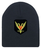 Masons Cap Beanie - Standard Scottish Rite Wings Up - Masonic Black Winter Hat with 32nd degree Symbol - One Size Fits Most Cap for Freemasons