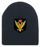 Masons Cap Beanie - Standard Scottish Rite Wings Up with Red Crown - Masonic Black Winter Hat with 33rd degree Symbol - One Size Fits Most Cap for Freemasons