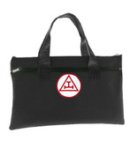 Royal Arch Black Masonic Tote Bag for Freemasons - Red and White Round Classic Triple Tau Icon