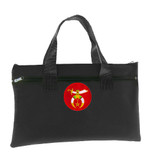 Shriners Black Masonic Tote bag for Freemasons - Classic Icon with Red Background