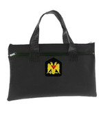 Tote Bag Scottish Rite Wings Down 32nd Degree - Black Masonic Tote bag for Freemasons - Classic Double Headed Eagle