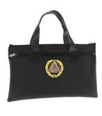 Black Grand Master Masonic Tote Bag for Freemasons - Blue and White Round Classic Logo