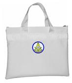 Past Master White Masonic Tote Bag for Freemasons - Blue and White Round Classic Icon