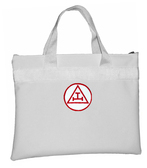 Royal Arch White Masonic Tote Bag for Freemasons - Red and White Round Triple Tau Classic Icon