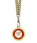 Heroines of Jericho Round Gold Color Rimmed Classic Style Pendant with Classic Symbolism - Includes Chain Necklace