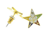 OES Post Back Earrings with Order of the Eastern Star Symbolism - One Pair. Great as an O.E.S Gift.