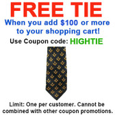 FREE with $100 or more! Coupon Code: HIGHTIE - Get (1) Masonic Neck Tie - Black and Yellow Polyester long tie with small duplicated Masonic pattern design for Freemason members
