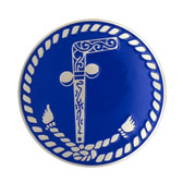 Masonic Tubal Cain Adhesive Car Decal - Blue Solid Back Car Bumper Emblem for Freemasons