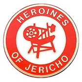 Masonic Car Emblem Decal - Heroines of Jericho - Red Car Emblem Disc for Freemasons.