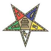 Order of the Eastern Star Car Sticker Decal - Masonic Car Emblem for OES with colorful cut out star.
