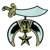 Freemason's Car Window Sticker Decal - Masonic Shriner Car Emblem with colorful Shriner's logo