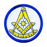 Past Master Masonic Patch - Classic colorful symbol on round surface for Freemasons masonic patches