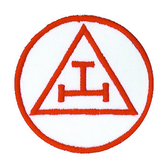 Red Royal Arch Patch for Freemasons - Classic Triple Tau Symbolism for Freemasons