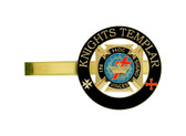 Knights of Templar - Tie Bar / Tie Clip for Free Masons with color enamel standard symbolism - In Hoc Signo Vinces