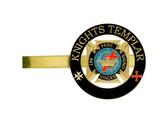 Knights of Templar - Tie Bar / Tie Clip for Free Masons with color enamel standard symbolism - In Hoc Signo Vinces