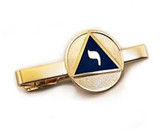 Grand Elect - Scottish Rite Masonic Lodge of Perfection 14th Degree - Scottish Rite Tie Clip / Tie Bar - Gold Color with Classic Standard Freemasons Symbol
