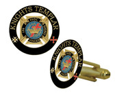 Knights of Templar Masonic Cufflinks - Gold tone with color enamel - Classic Freemasons Symbol. Masonic Regalia Merchandise for the Lodge