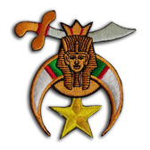 Colorful Cut Out Masonic Shriner Patch for Freemasons - Classic Shriners Symbol for Freemasons