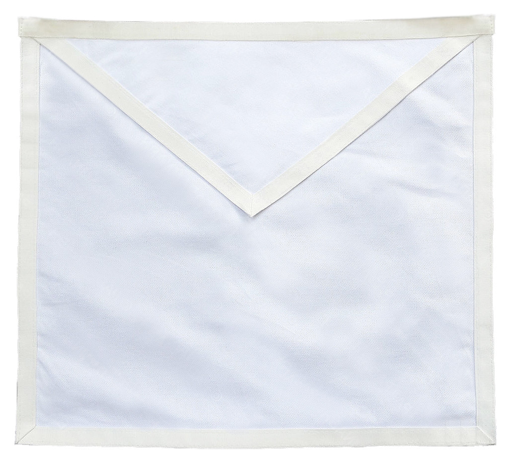 Masonic Aprons - Candidate / Entered Apprentice Apron for Lodge Plain White  Duck Cloth Apron For Freemasons  Masonic Lodge Regalia and Merchandise