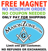 1 FREE Magnet - Just pay for shipping - No Minimum Order Required - No Coupon Code Needed! Mason Zone Oval Car Magnet (3 x 5) - Limit One per Customer.