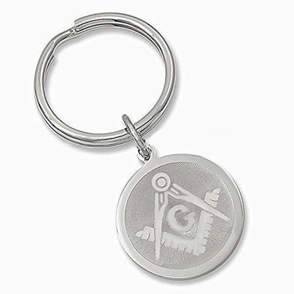 New Masonic Master Mason Cut out  Keychain silver black