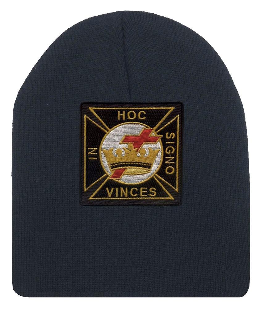 Masons Winter Cap - Order of the Knights of Templar - Masonic Black ... a51bdbf1f5bc