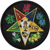 Black OES Eastern Star Patch