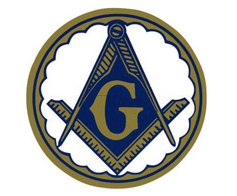 Masonic Car Emblem Compass /& Square Blue Round Masonic Car Window Sticker Decal