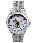 Shriner Watches - Masonic Symbol on Full Silver Color Steel Band and Face - For Freemasons
