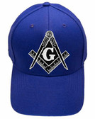 Freemason's Baseball Cap - Blue Hat with Black and White Standard Masonic Symbol - One Size Fits Most Adults. Masonic Gifts