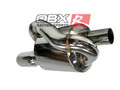 "OBX Universal Stainless Steel Mugen Style Twin Loop Muffler 2.5"" Inlet"