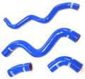 OBX Racing Silicone Radiator Hose Kit 2013 2014 Fiat 500 1.4L A/T Blue