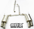 OBX Cat Back Exhaust Fits For 04 05 06 07 08 Acura TL 3.2L 3.5L Type-S Quad Tip