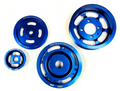 OBX Blue Overdrive + Underdrive Crank Pulley For Eagle Talon Mitsubishi Eclipse