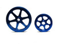 OBX Blue Precision Power Pulley For 1988-1995 Honda Civic CRX Del Sol Si