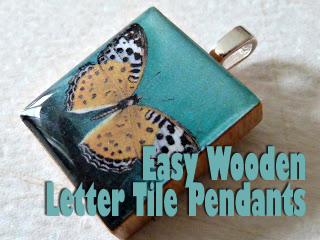 Easy Wooden Letter Tile Pendants