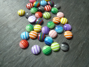 Round Stripy Cabochons 8mm