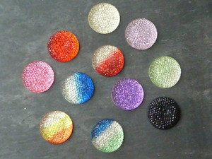 Resin Glittery Cabochons 25mm