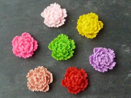 Bright Resin Flowers 25mm