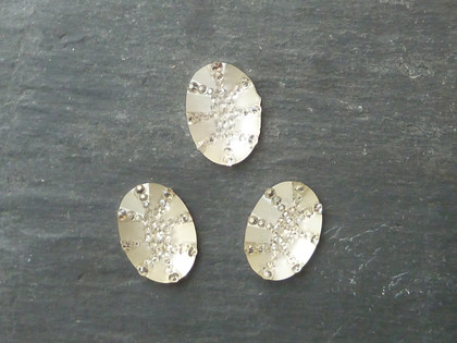 Oval Glittery Resin Cabochons 13x18mm